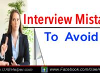 6 Job Interview Mistakes to Avoid
