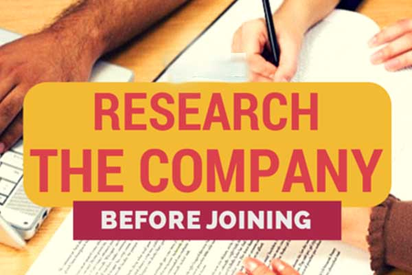 research the company- focus on employer