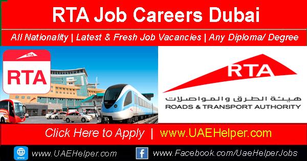 RTA Job Careers in Dubai