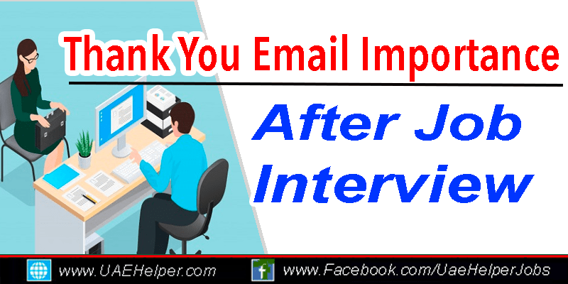 Importance of Thank you after a job interview