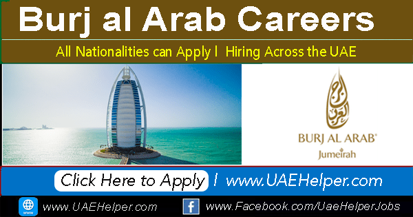Burj al Arab Careers -  Latest Hotel Jobs in 2020