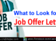 What to Look Out For in a Job Offer Letter?
