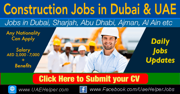 Construction jobs in Dubai