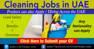 Cleaner Jobs in Dubai