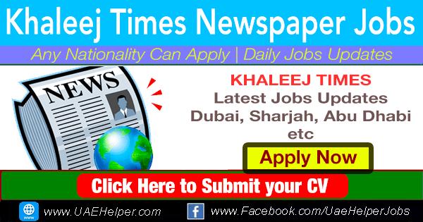 khaleej times jobs in dubai