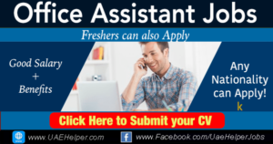 office assistant jobs in Dubai