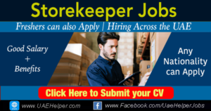 Storekeeper jobs in Dubai
