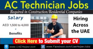 ac technician jobs in Dubai
