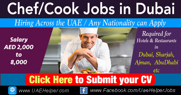 chef cook jobs in Dubai