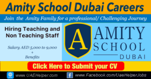 Amity School Dubai Careers - Jobs in Dubai and UAE