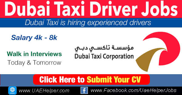 Dubai taxi driver jobs in 2020