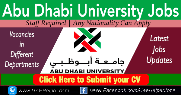 Abu Dhabi University Careers - Latest jobs in 2020