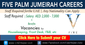 Five Palm Jumeirah Careers - Latest Jobs in 2020