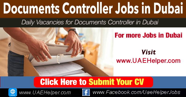 Documents Controller Jobs in Dubai