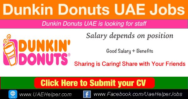 Dunkin Donuts Careers Dubai