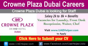 Crowne Plaza Dubai Careers: