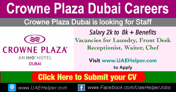 Crowne Plaza Dubai Careers: