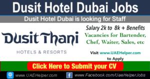 Dusit hotel Dubai Jobs