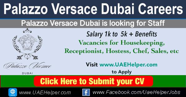 Palazzo Versace Dubai Careers