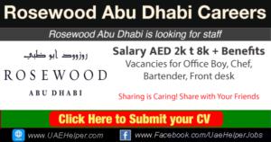 Rosewood Abu Dhabi Careers