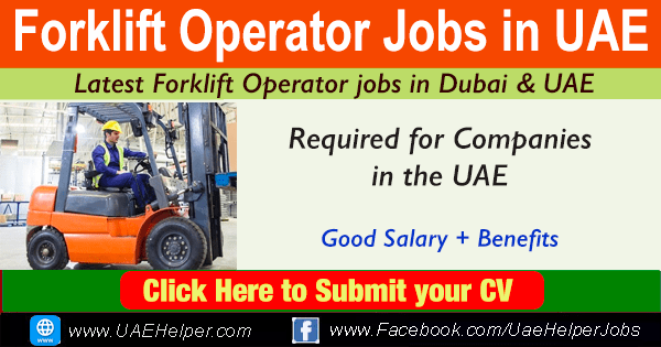 Forklift Operator Jobs in UAE