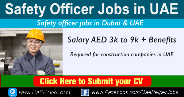 Safety officer jobs in UAE