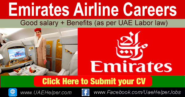 Emirates Group Careers - Latest jobs in Emirates Airline