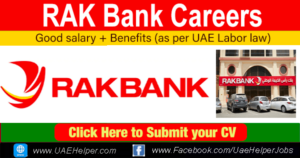 RAK Bank Careers - Latest Job Careers in Rak Bank