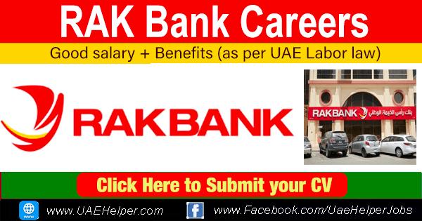 RAK Bank Careers - Latest Job Careers in Rak Bank