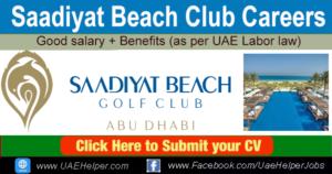 Saadiyat Beach Club Careers Abu Dhabi