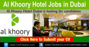 Al Khoory Hotel Jobs in Dubai