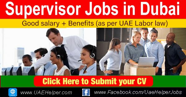 Supervisor Jobs in Dubai