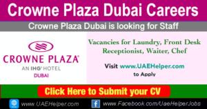 Crowne Plaza Dubai Careers - Jobs in Dubai and UAE