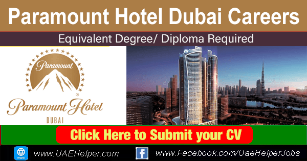 Paramount Hotel Dubai careers