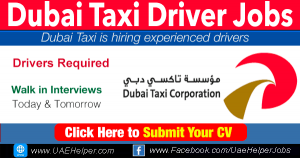 Dubai Taxi Driver Jobs in Dubai in 2021