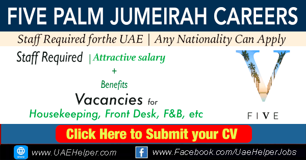 Five Palm Jumeirah Careers